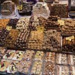 Разнообразие от сладкиши на Египетския пазар