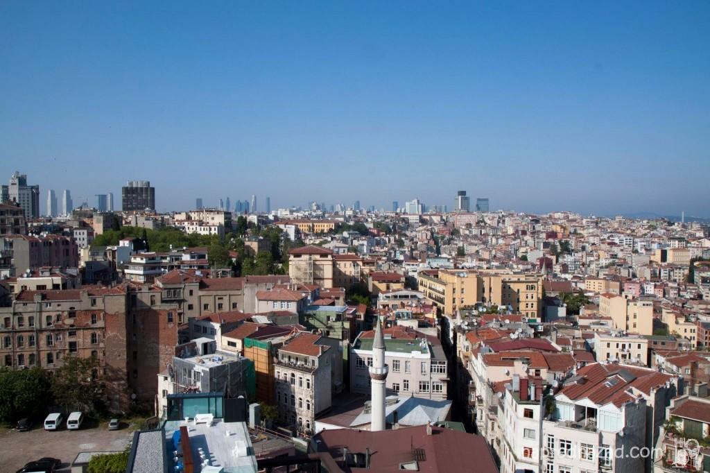 Красива 360 градусова гледка от кулата Галата