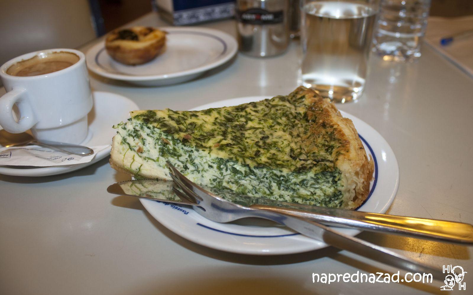 Киш със сирене и спанак
